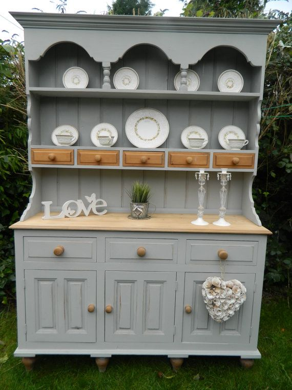 Solid Pine Welsh Dresser with Spice Drawers by shabpoppymay, £455.00
