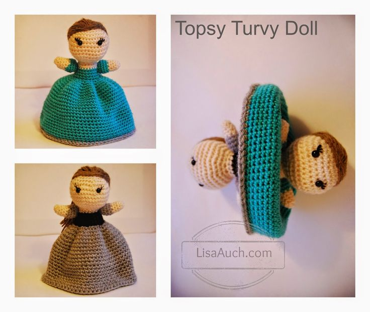 Advanced Amigurumi Shapes : free crochet doll pattern-topsy turvy crochet doll pattern ...
