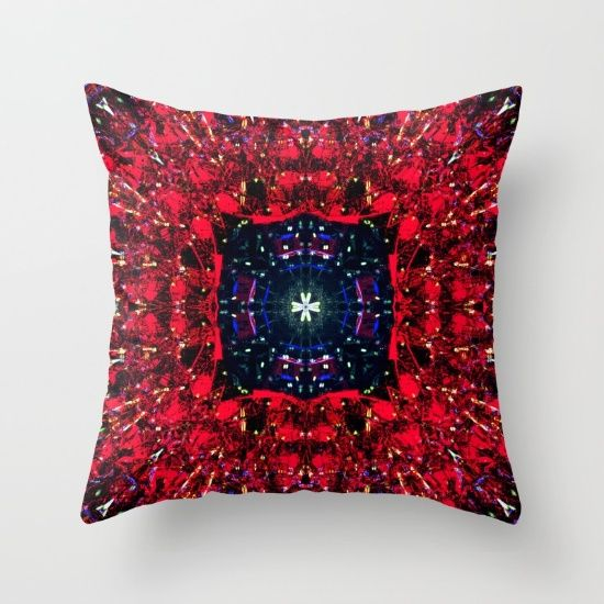 Throw Pillow, mandala, cross