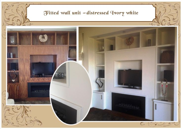 Built in wall unit - Ivory white