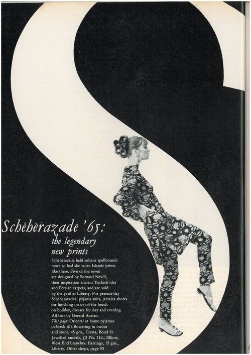 Fashion editorial from 1965: Legendary new prints #inspiration