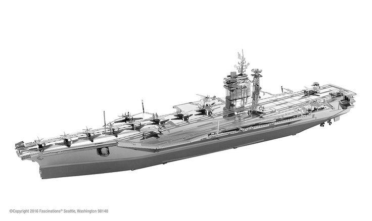 Metal Earth 3D ICONX Laser Cut Model USS Roosevelt Aircraft Carrier