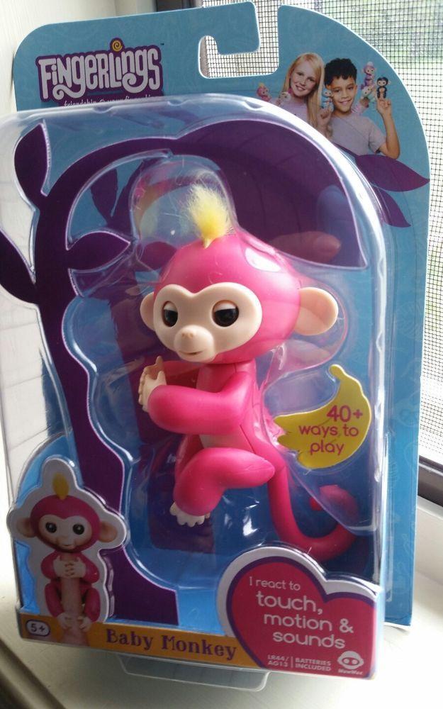 FINGERLINGS- Pink Bella Interactive Pet Baby Monkey  Wow Wee NIB 2017 #WowWee