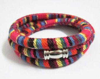 5mm Stitched cotton cord Fabric ethnic cord Textile wrap cord Embroider cord