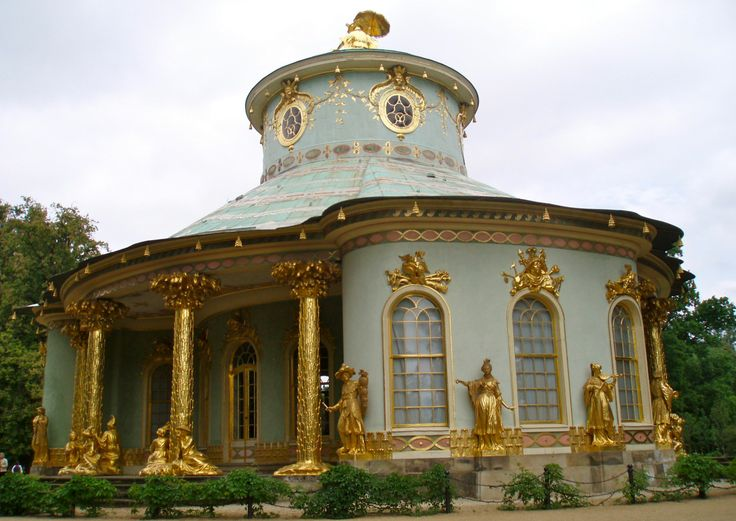 Chinese Tea House at Sansoucci Palace in Potsdam, Germany