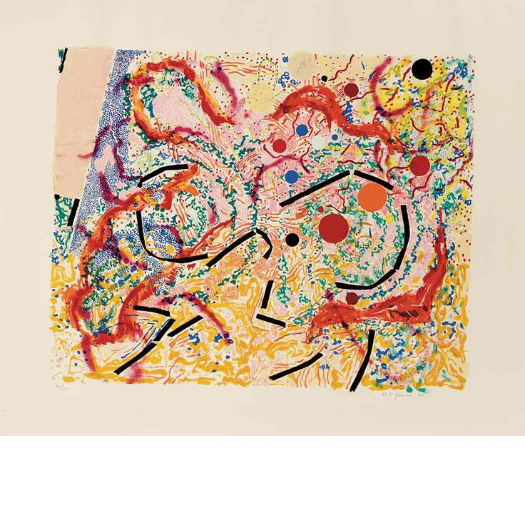 NANCY GRAVES (American, 1940-1995)Vertigo (Padon 20)1980Color Screenprint on Arches Cover paper22.25 x 27.75 inches