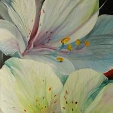 """Oil painting """"Lillies"""" by Radmila Filimonova, Latvian painter from Riga. More paintings www.radmilaart.com"""