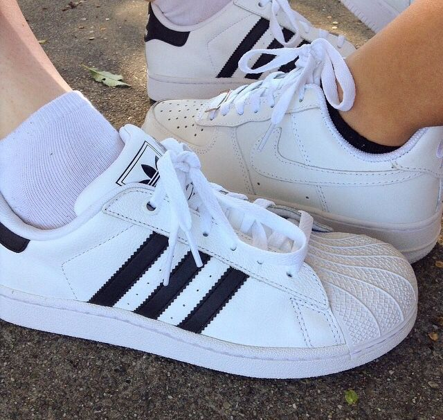new concept 7e29e 7601d ... new style adidas superstar vs nike air force 75c7b 9c081