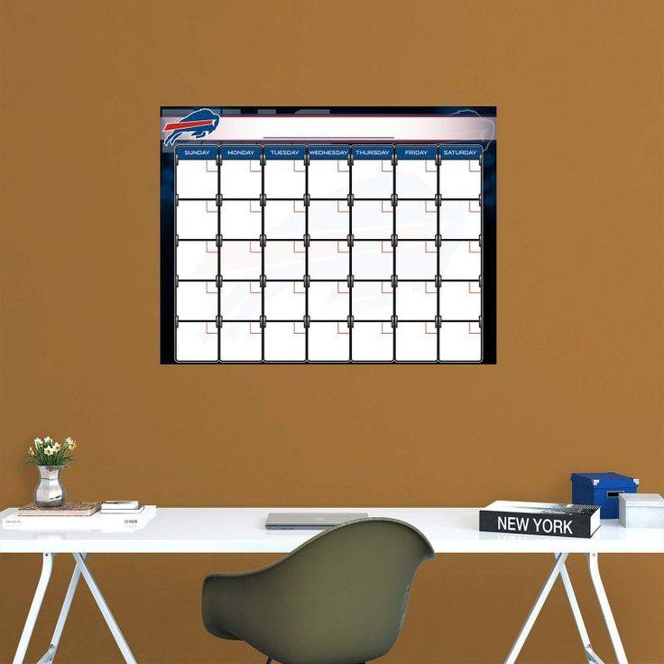 Fathead NFL Buffalo Bills 1 Month Dry Erase Calendar - 14-14280