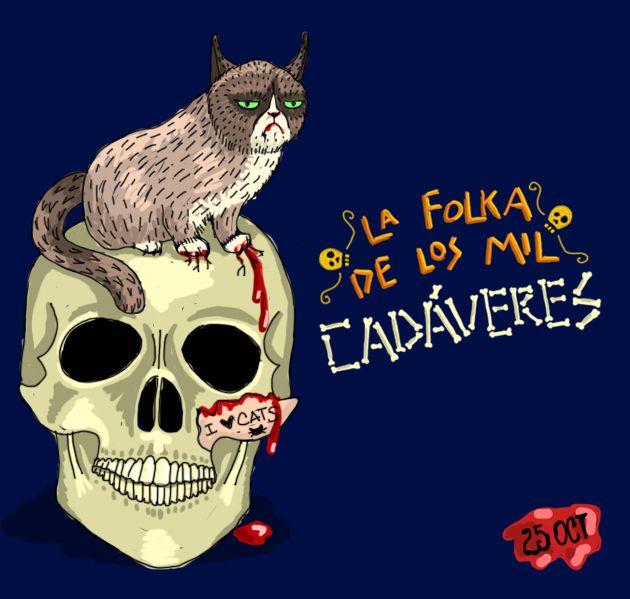 lindo gatito Folka de los Mil Cadáveres  Mara Ilustración