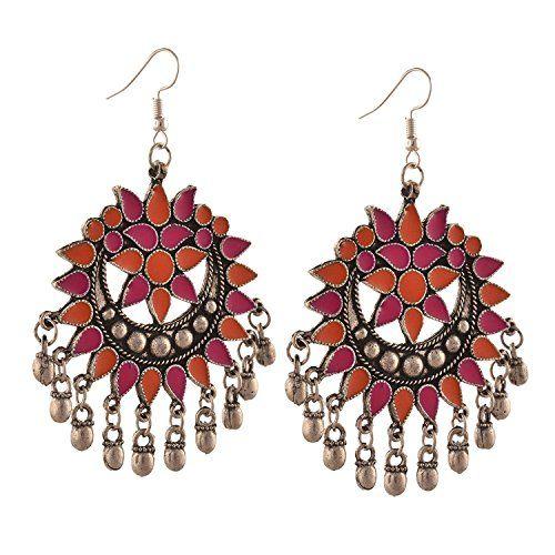 7eee86d11 Tiaraz Fashion Stylish Oxidised Afghani Tribal Fancy Party Wear Earrings
