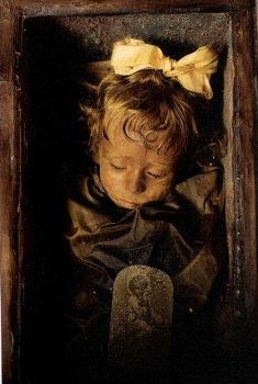 Rosalia Lombardo The Sleeping Beauty – 1920 (Natgeo) This photo gets me down every time I see it. Rosalia was only two years old when she passed away to what is believed to be Pneumonia. But she has a special place in the hearts of visitors and caretakers. She was the last to be interred at the Capuchin Catacombs in 1920.
