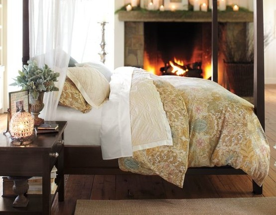 Fireplace In The Bedroom Homey Things Pinterest