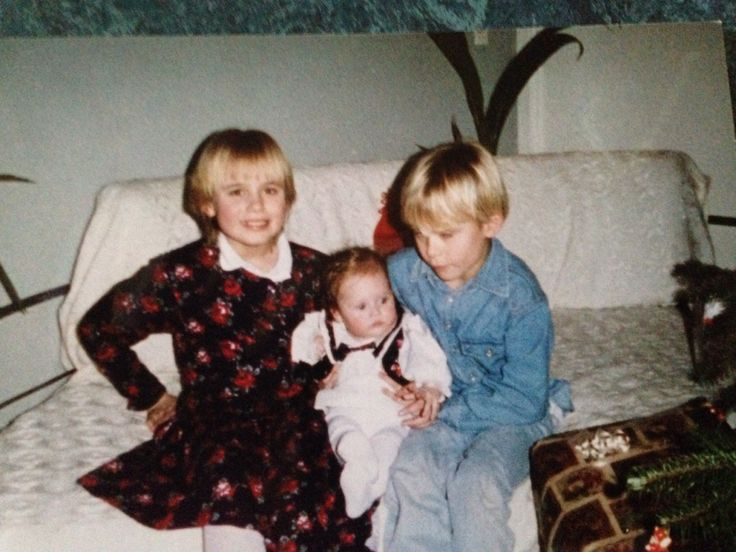 My baby sister, younger brother and I (1994)