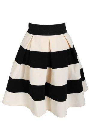 Black and white skirt:: Lily Boutique ::