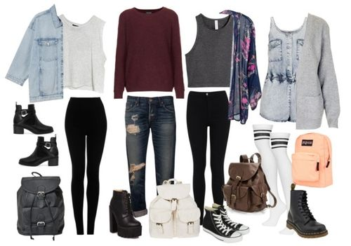 tumblr outfits for high school - Google Search