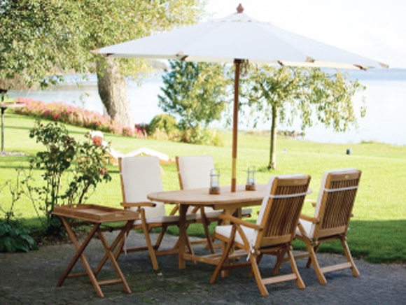 patio table umbrella hole insert set ring lowes planter