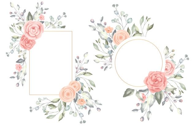 Download Beautiful Watercolor Floral Frames For Free Floral