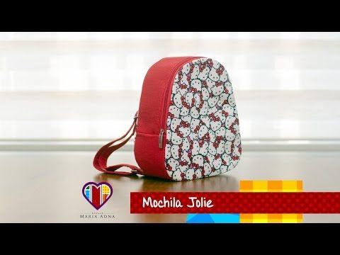Bolsa mochila infantil em tecidos Jolie- Maria Adna Ateliê - Aulas de bolsas e mochilas em tecidos - YouTube