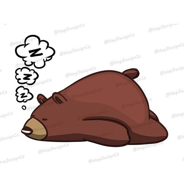 Sleeping Bear Clipart Png Files Instant Download Digital Etsy Bear Clipart Computer Background Pictures Digital Clip Art