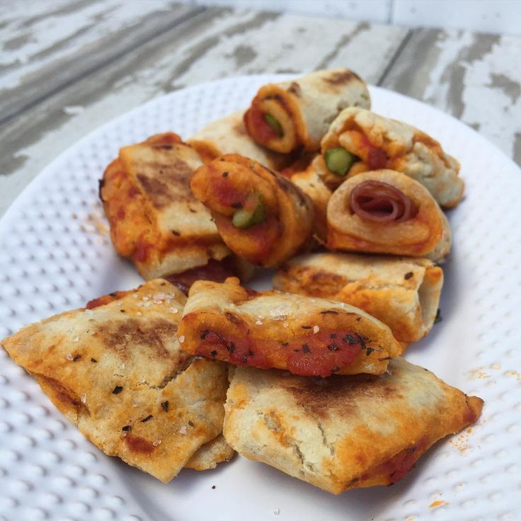"""Alanna on Instagram: """"I made these amazing little pizza rolls and bites for my kids out of my #paleo pizza crust (made with @ottos_cassava_flour -on the blog) I just rolled out the dough and used a pizza cutter to cut strips and squares, filled with sauce/meat/veg (cheese would be amazing!) sprayed with oil and baked 425F for 10 mins. These could be made really pretty, my 2 year old was all up it it so I was rushing through but they taste amazing!"""""""