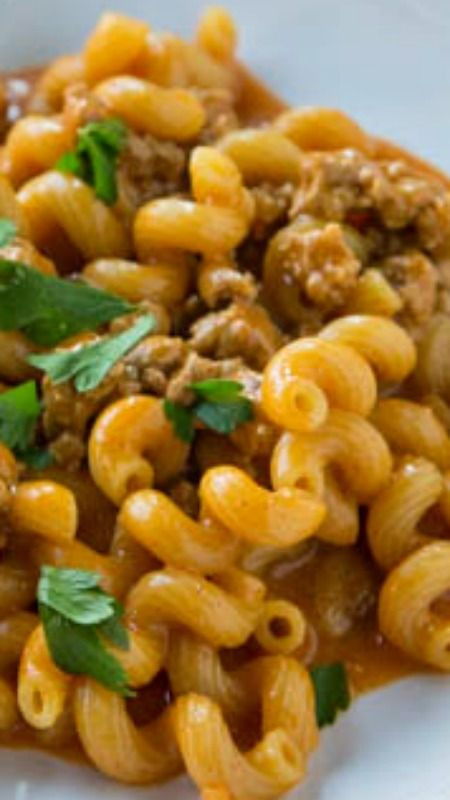 Enchilada Pasta Skillet ~ A homemade version of Hamburger Helper with a Mexican twist!