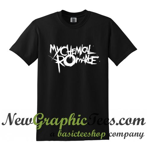 About My Chemical Romance Logo T Shirt from newgraphictees.com This t-shirt is Made To Order, one by one printed so we can control the quality. We use newest DTG Technology