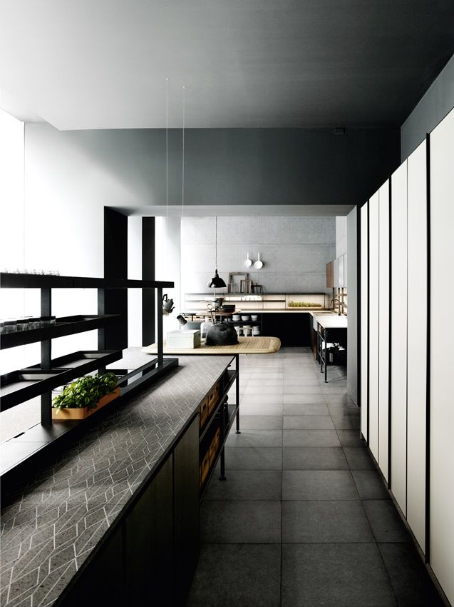Patricia Urquiola designed for Boffi the new kitchen collection Salinas... Counter top nerosicilia