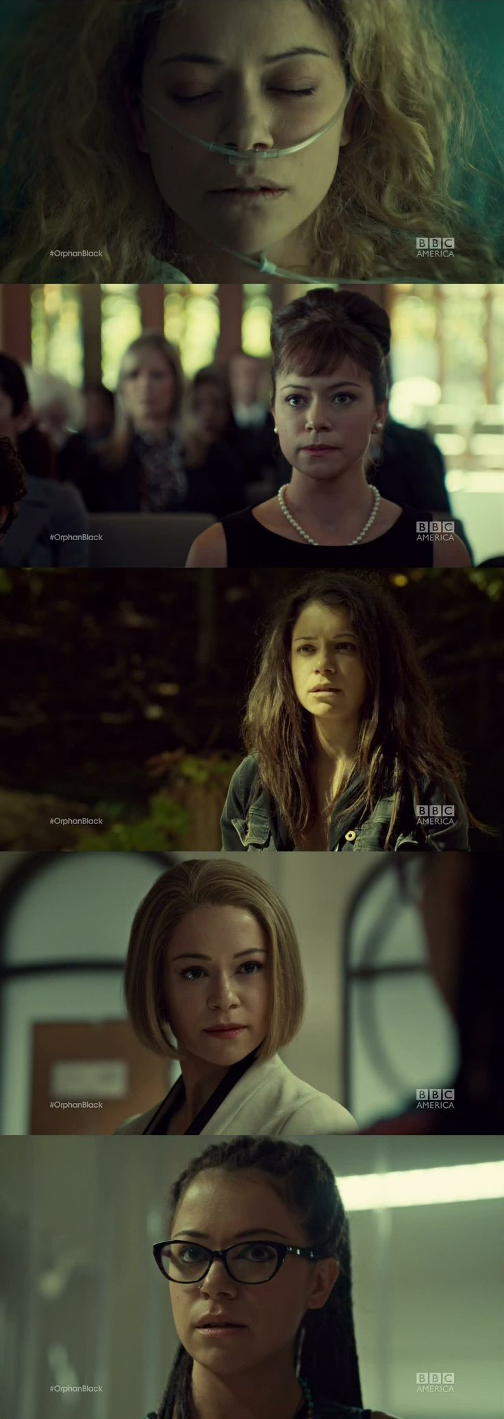 Same actress, completely different characters. Orphan Black. She deserves every award there is for this show! Amazing