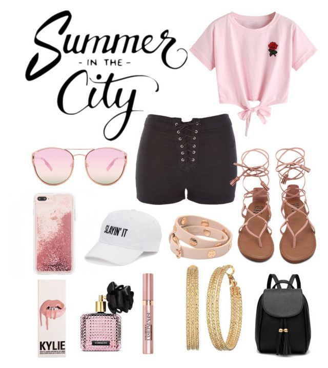 """Summer in the city"" by biebersfuturegirl on Polyvore featuring Mode, WithChic, Topshop, Quay, SO, Tory Burch, GUESS, Victoria's Secret und L'Oréal Paris"
