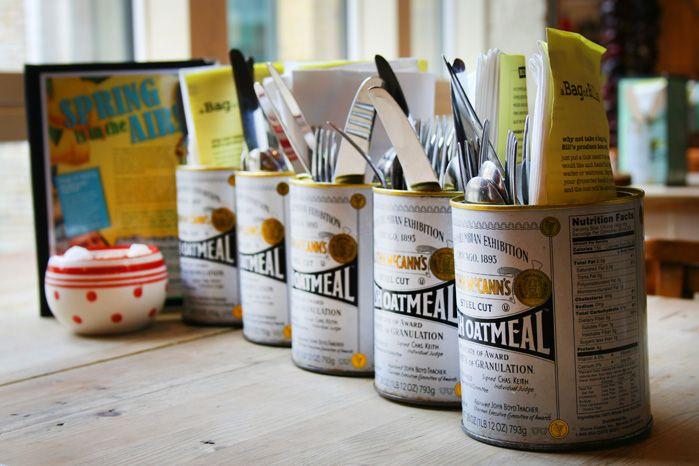 Utensils holder inspiration : Bill's Cafe, Restaurant and Store Gallery Gallery <3
