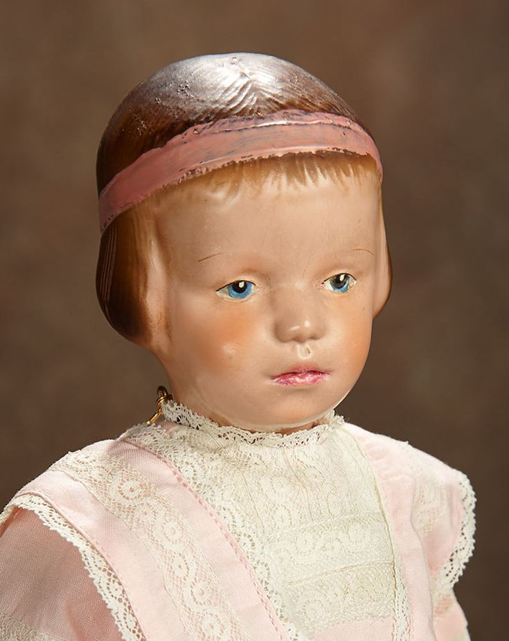 American carved wooden doll by schoenhut model 105 with