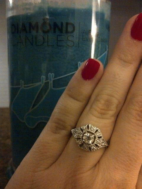 love this Diamond candle ring
