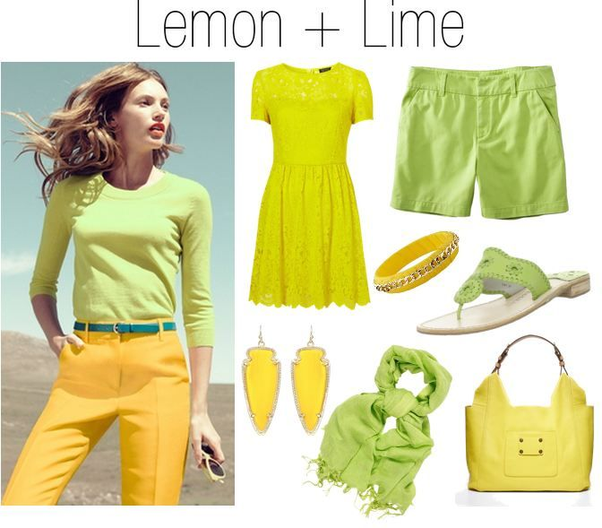 Sweetie Pie Style: Color Crush: Lemon and LimeLemon Limes, Colors Combos, Lemon And Limes Fashion Jpg, Fantastic Shades, Pies Style, Colors Crushes, Sweetie Pies, Springsummer Style, Bold Bright