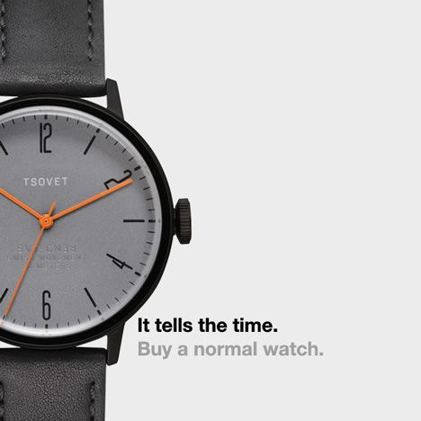 """Dezeen Watch Store launches """"Buy a normal watch"""" campaign"""