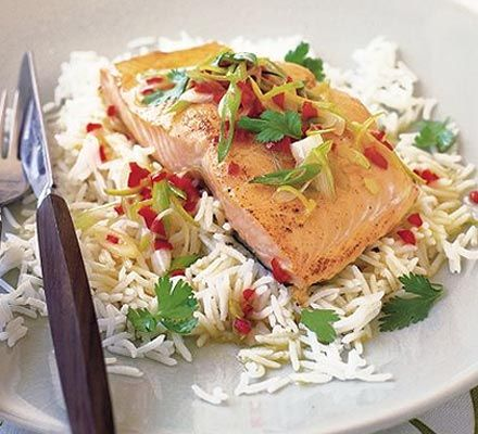 This easy-to-make dish is grilled, low in fat and spiked with a little chilli - a great all-rounder!