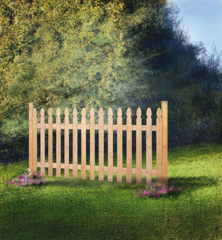 Les 25 meilleures id es de la cat gorie piquets cloture sur pinterest cloture chataignier - Cloture de jardin facile a poser ...