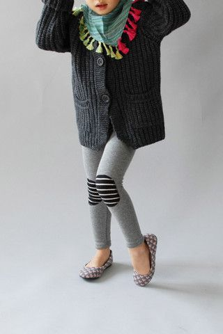 Such a stylish way of dealing with all those practically new leggings with torn knees.