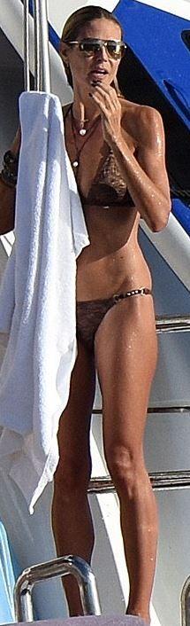 Who made  Heidi Klum's brown bikini? Ale By alessandro
