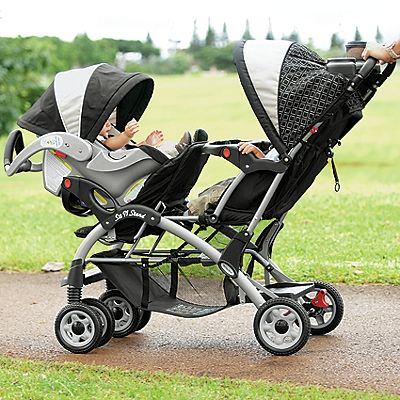 Elite Sit n Stand Double Baby Stroller - I want the kids to be able to face each other :)