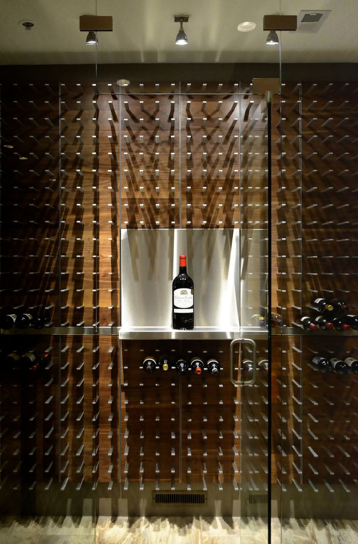 Custom Aluminium Magnum Display In This Gl Enclosed Wine Cellar