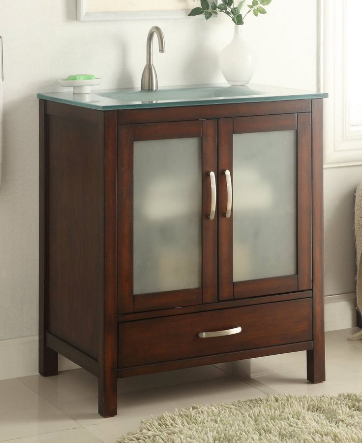 Gallery Website Modern Contemporary Style Tempered glass top Collins Bathroom sink vanity Model a contemporary minimalist style sink vanity