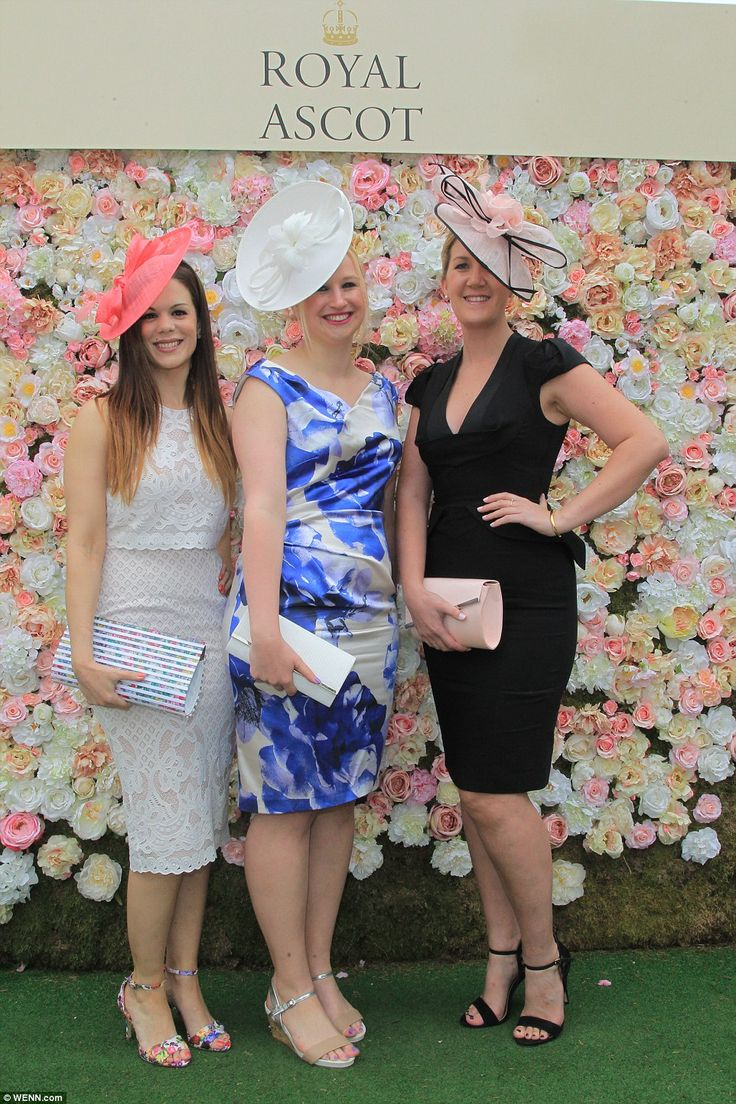 The race meeting today saw women don their finery, adorned in floral accessories and stunn...