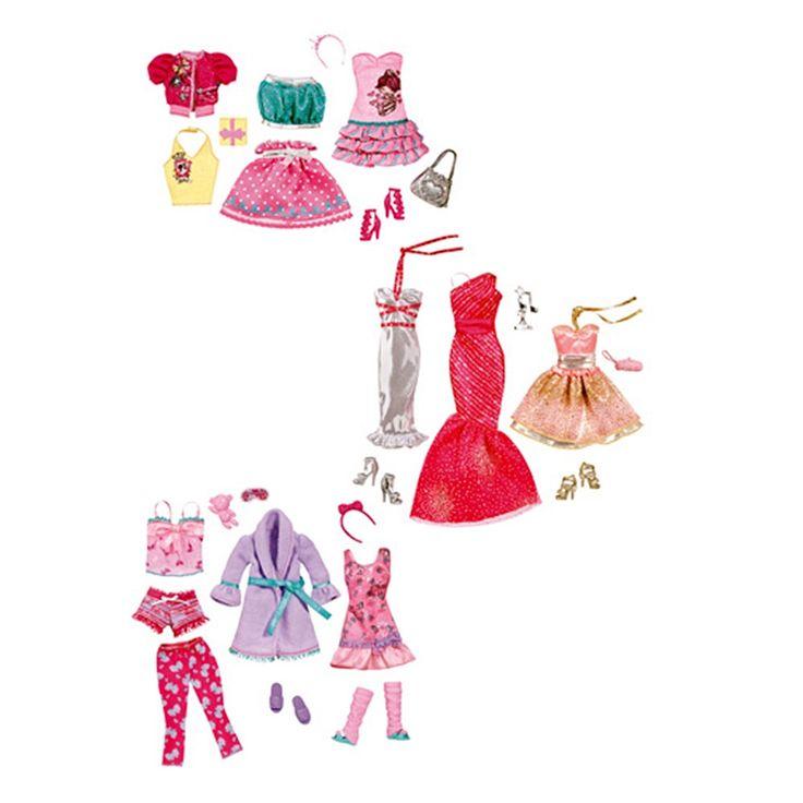 La <strong>Barbie</strong>, sea cual sea el evento al que asiste: ceremonia de los Oscar, fiesta de pijamas o cena con amigas, ¡Barbie siempre va a la última!  Cada cajita incluye 3 conjuntos y complementos.<br><br>Modelos surtidos. La selección del modelo de este producto se hará según la disponibilidad. Puedes recibir cualquier modelo del surtido al realizar la compra, incluidas referencias que no figuran en la imagen. Precio por unidad.