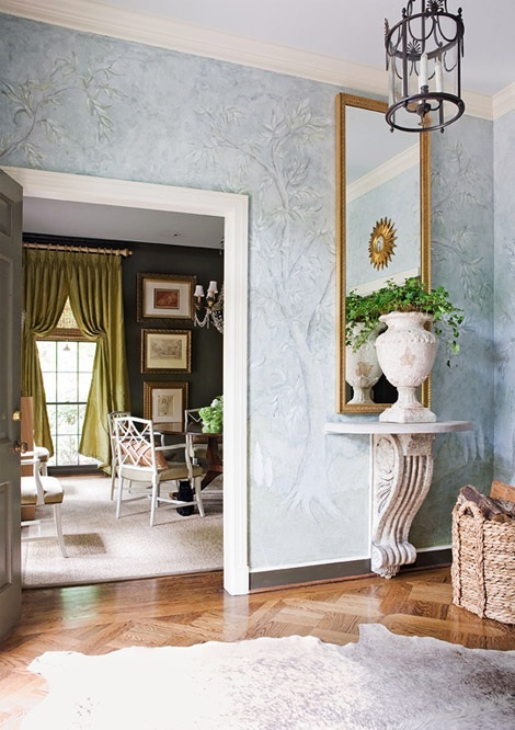 You can recreate.... Go to auctions or flea markets, garage sales. You can find old urns, corbels, add painted wooden shelf on top of corbel, you can find a mirror like this at target and simply gold leaf or add frame from Hobby Lobby
