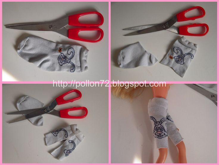 Mamma Claudia ci spiega come fare vestiti per barbie partendo dai calzini!