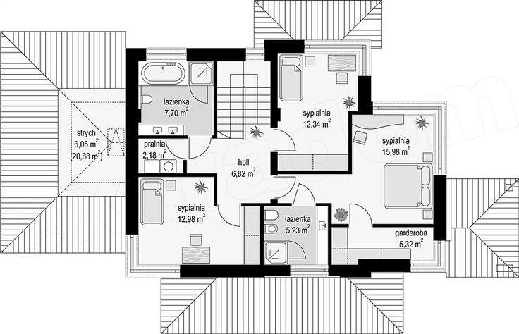 Rzut piętra projektu Dom z widokiem 5