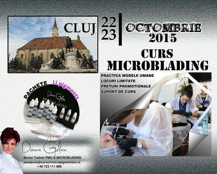 Curs initiere MICROBLADING in Cluj  22/23 octombrie 2015 Grand Hotel Italia, Cluj  #brows #eyebrows #microblading #pmu #dianagulan #cluj #cursuri