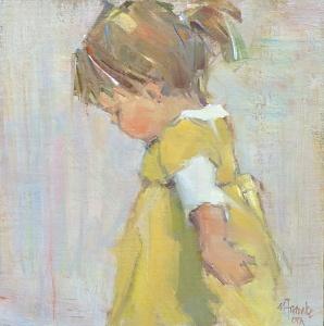 Like a portrait like this....Watch Me Go by Nancy Franke Oil ~ 12 x 12