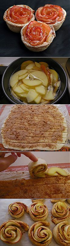 Buns with cinnamon and apples